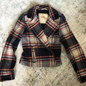 Hollister Plaid Coat